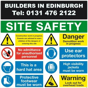 Builders In Edinburgh - Health And Safety - Site Safety