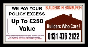 Storm Damage Repairs - We pay Your policy Excess - Builders In Edinburgh