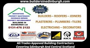 Builders In Edinburgh, Property renovation, property insurance repairs, property maintenance, refurbishment in Edinburgh